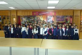 Alumnes del Col·legi Sant Josep de la Muntanya varen visitar Son Moix i Grup Serra