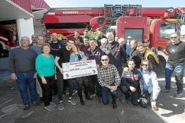 Los bomberos celebran su patrón y se suman a la causa solidaria por Jerome