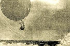 El globo aerostático que 'naufragó' en aguas ibicencas en el año 1907