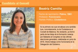 Beatriz Camiña, una funcionaria que quiere presidir el Consell de Mallorca