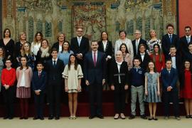 La ibicenca Ana Ruiz Maldonado acude a una recepción con el Rey Felipe