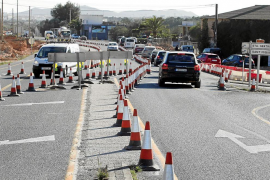 Las obras en la carretera de Santa Eulària han originado diversos cambios en la circulación