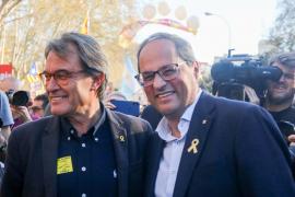 Artur Mas y Quim Torra, en la manifestación independentista de Madrid