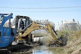 Comienza la limpieza del canal de Ses Feixes