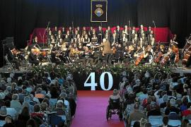 Los 40 años se celebran al ritmo que marca la novena sinfonía de Beethoven