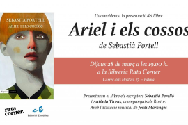 Sebastià Portell presenta en la librería Rata Corner su nueva novela 'Ariel i els cossos'