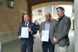 Joan Mesquida, Pedro Ribas y Fernando Navarro.
