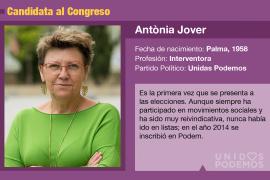 Antonia Jover es la candidata de Unidas Podemos al Congreso por Baleares.