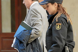 Jaume Matas en los juzgados en Palma