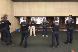Los policías de Sant Antoni realizarán sus prácticas en la galería de tiro de Calvià