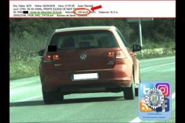Cazado un conductor a 104 km/h en un tramo donde se puede ir a 50 en Sant Josep
