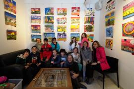 Los jóvenes pintores del CEIP Buscastell