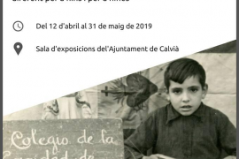La exposición 'La escuela franquista' se puede visitar en el Ajuntament de Calvià
