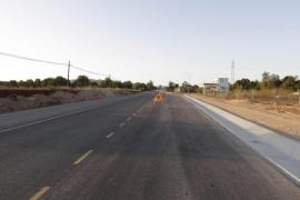 Los transportistas tildan de «peligroso» el actual estado de la carretera de Sant Miquel