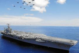 Imagen del portaaviones USS Abraham Lincoln