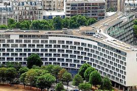 Imagen de la sede central de la Unesco, en París