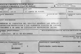 Vila multó a conductores en invierno por acceder a la zona Acire de la Marina