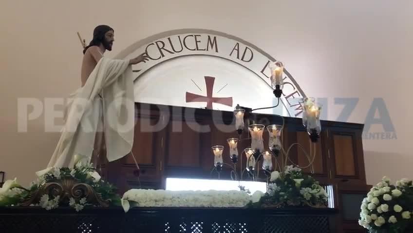 La iglesia de Santa Creu de la ciudad de Ibiza acoge el Santo Encuentro por mal tiempo