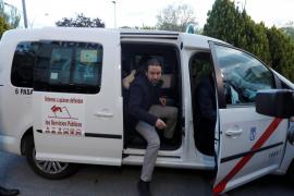 Iglesias llegó en taxi a la sede de Atresmedia