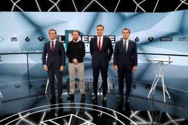 Los cuatro candidatos en el debate de Atresmedia