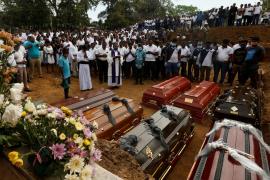 Funerales por atentado terrorista Sri Lanka