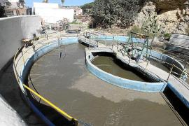 La ampliación de la depuradora de Cala Vedella no estará a punto este verano