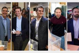 Los candidatos a la presidencia del Gobierno votan y piden una alta participación