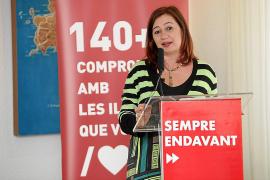 Francina Armengol asegura que la ecotasa «ha venido para quedarse» en las islas