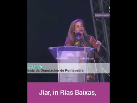 El viral discurso en inglés de la presidenta de la Diputación de Pontevedra