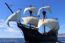 La réplica de la Nao Victoria se podrá visitar desde este martes en el puerto de Ibiza