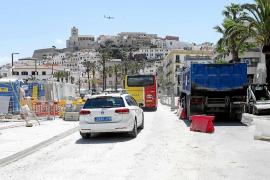 Inician los trabajos de asfaltado de la avenida de Santa Eulària junto al tanque de tormentas
