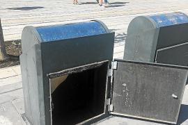 Un contenedor soterrado peligroso en el puerto de Vila