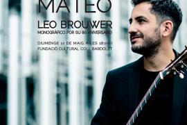 Concierto de guitarra clásica a cargo de Pedro Mateo en la Fundació Coll Bardolet