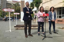 Los candidatos del PSIB-PSOE al Ajuntament de Palma, al Govern y al Consell de Mallorca, José Hila, Francina Armengol y Catalina