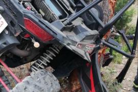 Herido al empotrar un buggy contra un pino en Ibiza