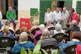 Jaume Mateu y Cosme Bonet, durante el acto poítico.