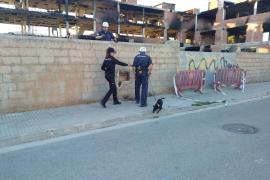 Una unidad canina especializada de Madrid buscó ayer «rastros de acelerante» en es Viver