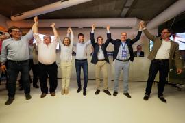 El PP gana las elecciones al Consell, Vila, Santa Eulària, Sant Antoni y Sant Joan