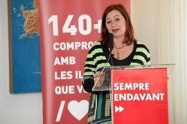 """Armengol dice estar """"segura"""" de que el PSOE liderará la alcaldía de Vila"""