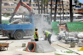 Los comerciantes de ses Figueretes facturan la mitad que el pasado año por las obras