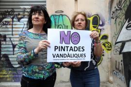 Campaña contra las pintadas vandálicas en Palma