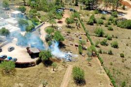 Incendio agrícola en Sant Joan