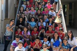 Escolares ibicencos en Ontinyent (Valencia)