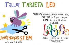 La Librería Baobab organiza el taller infantil 'Tarjeta LED'