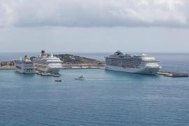 Más de 8.500 cruceristas recalan en un día en Ibiza