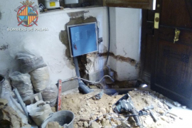 Evacuadas dos fincas en Palma por la rotura de una tubería de gas