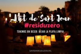 Noche de San Juan '#residuzero' en Es Portixol