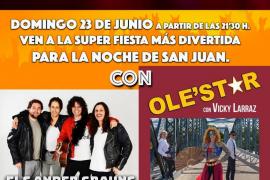 Noche de San Juan 2019 en Santa Ponça con conciertos de Ole'star y Els Ander Grauns