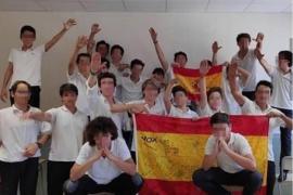 Polémico saludo fascista de los alumnos de un colegio en Palma