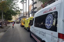 600 personas desalojadas por un incendio en un hotel de s'Arenal, en Mallorca